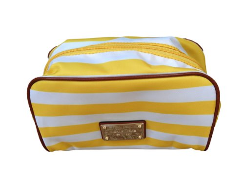 Michael Kors Abbey Large Cosmetic Case Citrus White ()