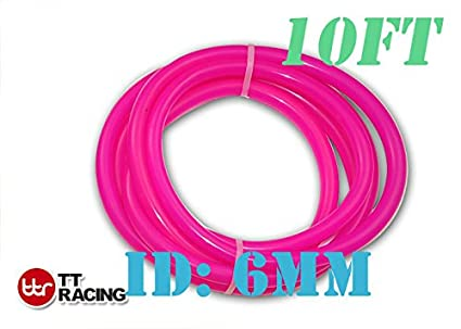 Silicone Vacuum Tube Hose Tubing for Air Coolant//Water 10ft 3m Pink 1//4 6mm