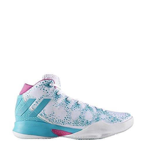 adidas Crazy Heat W, Zapatillas de Baloncesto Para Mujer Blanco (Ftwbla / Azuene / Ftwbla)