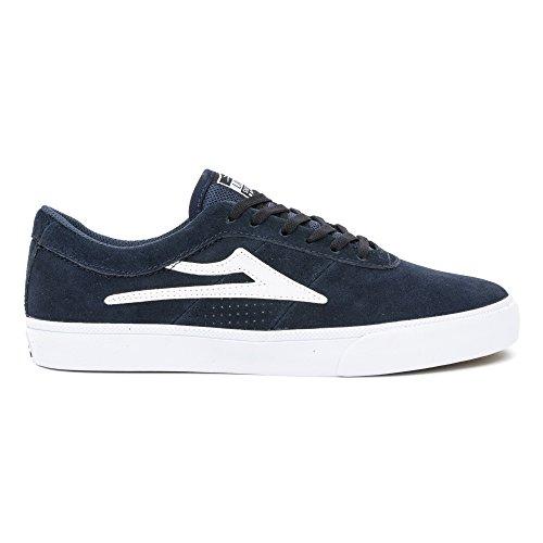 Lakai Men's Sheffield Skate Shoe, Black/White Suede, D(M) US Navy Suede
