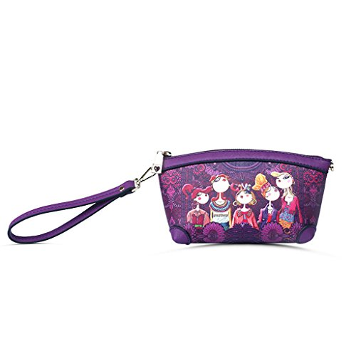 Bolso coreano grande del bolso del bolso de la capacidad 2018 Bolso cosmético nuevo del bolso del mensajero diagonal ocasional de Mini (multicolor) (Color : Orange) Purple