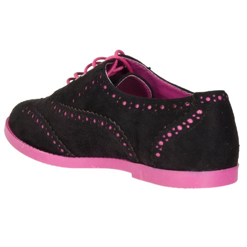 Pinky Womens Isabella Two-tone Microsuede Oxfords Black ka0bt
