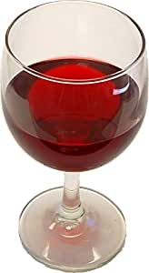 Red Wine Glass Fake Drink