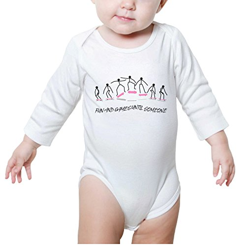 Price comparison product image DRTSE Fun and Games Until Someone Baby Onesie White Bodysuit Side Snap Magnetic Long Sleeve