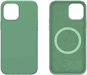 Silicone case MagSafe cover for Apple iPhone 12 / 12 Pro 6.1 - Light Green