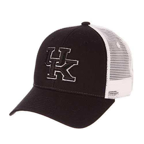 (Zephyr University of Kentucky Wildcats UK Black Big Rig Trucker Mesh Adult Mens Adjustable Baseball Hat/Cap )