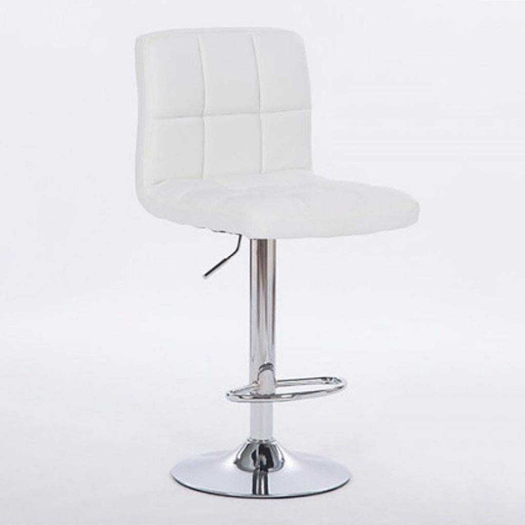 F 1 Bar Stools Swivel Leather Stool Chair with Back Adjustable Kitchen Island Counter Height Swivel Bar Stool