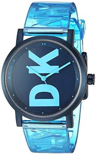 DKNY Soho Women's Three Hand Wrist Watch-Translucent Band