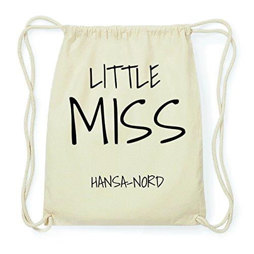 JOllify HANSA-NORD Hipster Turnbeutel Tasche Rucksack aus Baumwolle - Farbe: natur Design: Little Miss