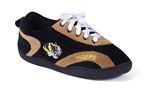 MIS05-3 - Missouri Tigers - Large - Happy Feet Mens and Womens All Around Slippers