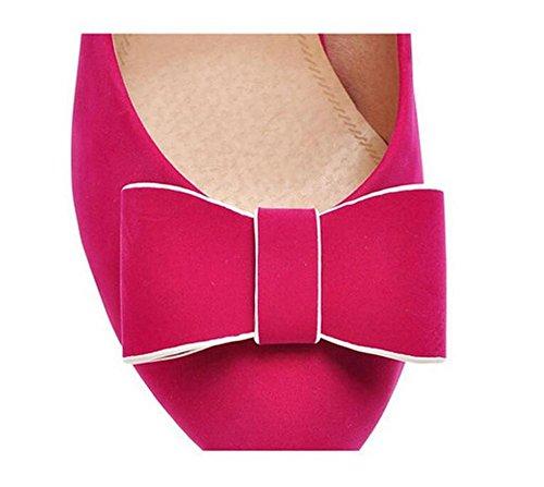 da Bocca alto Scarpe semplici fiori scarpe rotonda Shallow con XIE 38 tennis arco sottile RED tacco Women 36 Punta 's Frosted gn1YIxO4
