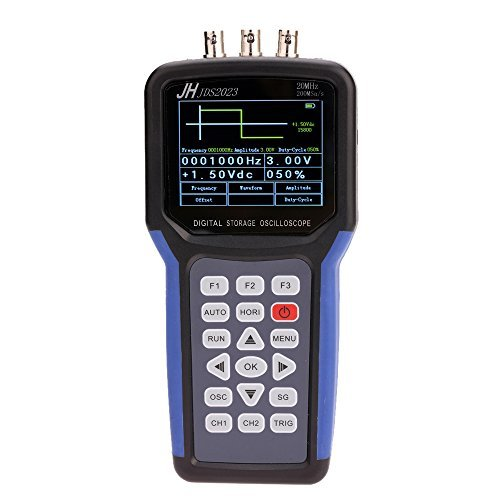 KKmoon Handheld Multi-functional Digital Oscilloscope + Signal Generator Portable Scope Meter 20MHz Bandwidth 200MSa/s 1CH TFT LCD Display