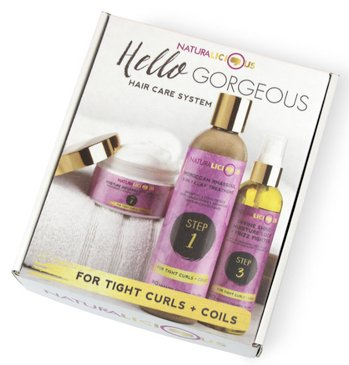 NATURALICIOUS Hello Gorgeous Hair Care System For Tight Curls + Coils