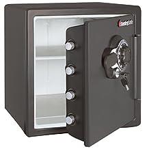 SentrySafe SFW123DSB 1.23 Cubic Feet Combination Fire-Safe (Medium Grey)