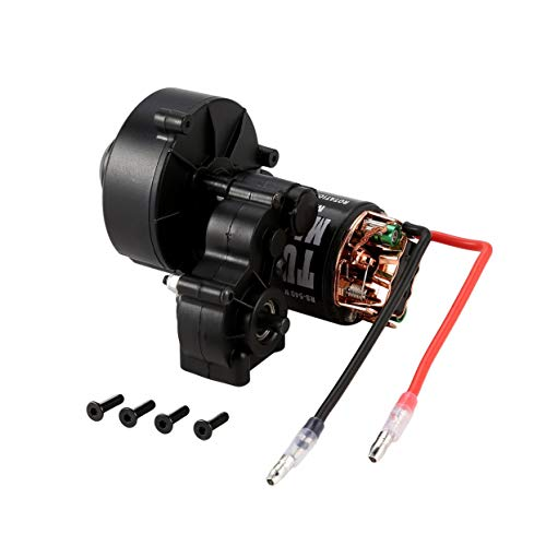 anyilon Center Gearbox Transmission +540 Brushed Motor 21T 27T 35T 45T 55T for SCX10 D90 1:10 RC Rock Crawler Car