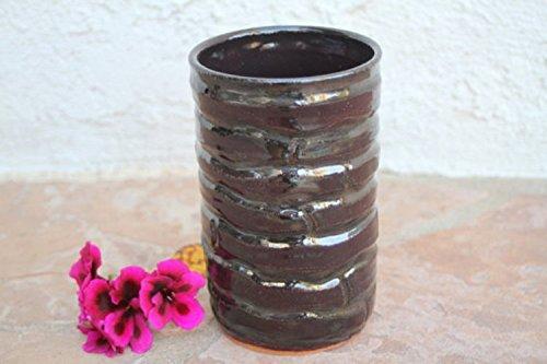 Santa Fe Vase - Wavy Vase handmade ceramic vase flower holder utensil holder