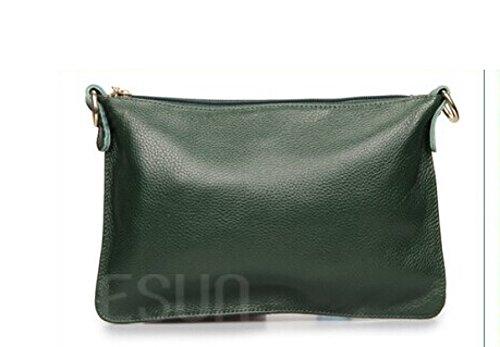 Pelle Litchi Modello Borse Darkgreen Addora Colore Del Busta Frizione Donna Della Solido Semplice 4xY8qwf58