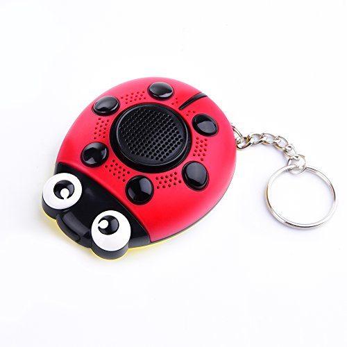 iDaye 130DB SOS with siren song voice Ladybug Emergency Personal alarm keychain,Protection Device with colorful flash work for kids/elderlies/owls and adults,Used as a speaker or electric torch. by iDaye (Image #1)
