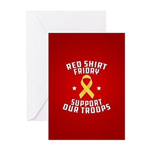 CafePress RED Shirt Friday Support Our Troops Greeting Card, Note Card, Birthday Card, Blank Inside Matte