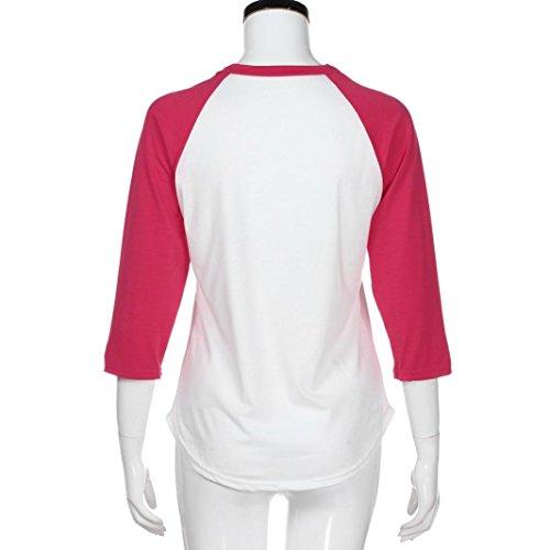 Femme Rouge Casual Sexy Col Tops Solike Paillettes 4 Chemisiers 3 Shirts Manches Femme Tunique Tops T A Imprim Couture Blouses Rond qEZHI