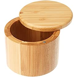 Totally Bamboo Salt Box, Bamboo Storage Box with Magnetic Swivel Lid