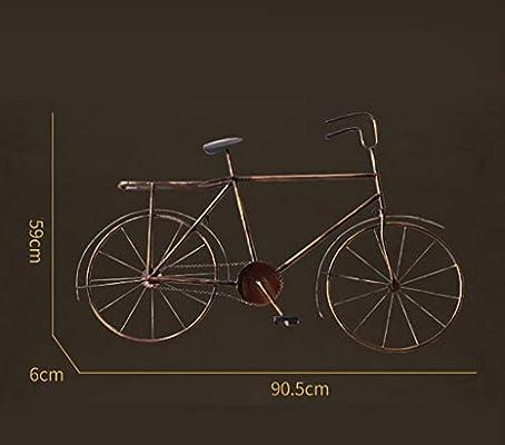 QBZS-YJ Retro Industrial Viento Modelo de Bicicleta decoración de ...