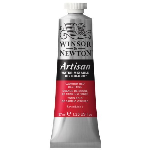 - Winsor & Newton Artisan Water Mixable Oil Color, 37ml, Cadmium Red Deep Hue by Winsor & Newton