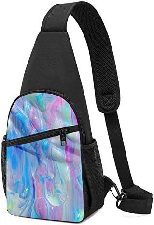 ボディ肩掛け 斜め掛け 油絵 ショルダーバッグ ワンショルダーバッグ メンズ 軽量 大容量 多機能レジャーバックパック