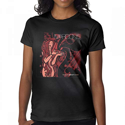 (GMSQJ-Top Women's Vintage Maroon5 Songs About Jane T Shirts XXL Black)