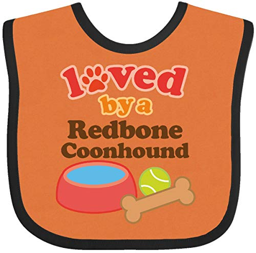 Orange Hounds (Inktastic - Redbone Coonhound Loved By A (Dog Baby Bib Orange and Black 1058d)