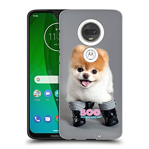 Official Boo-The World's Cutest Dog Boots Portraits Hard Back Case for Motorola Moto G7 ()
