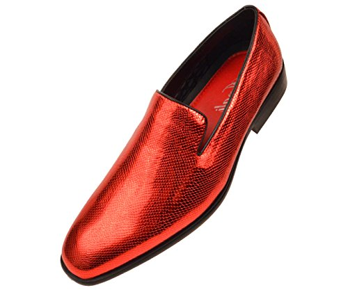 big sale cheap online cheap sale tumblr Amali Mens Shiny Exotic Printed Tuxedo Slip on Dress Shoe Style Durant Red x0ZKgX