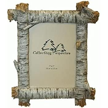 Amazon.com - Rustic Birch Wood Log 4x6 Photo Frame (Horizontal) -