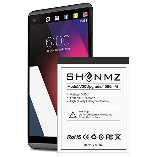 SHENMZ LG V20 Battery, Upgraded [4200mAh] Replacement Battery for LG BL-44E1F, LG V20 Extended Battery for LG H910 H918 V995 LS997 Phone   LG V20 Spare Battery [24 Months Warranty]