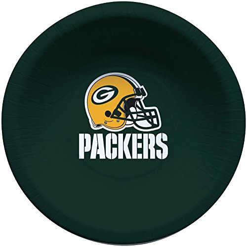 Creative Converting Officially Licensed NFL Paper Bowls, 8-Count, 20-Ounce, Green Bay Packers Green Bay Packers Soup