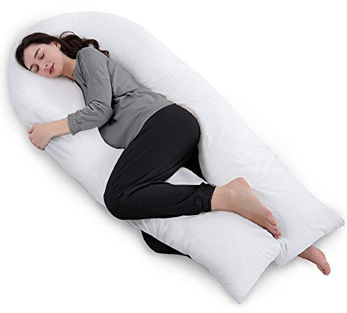 Price comparison product image QUEEN ROSE Pregnancy Body Pillow / Maternity Pillow for Back Pain with 1 Removable Pillow Cover