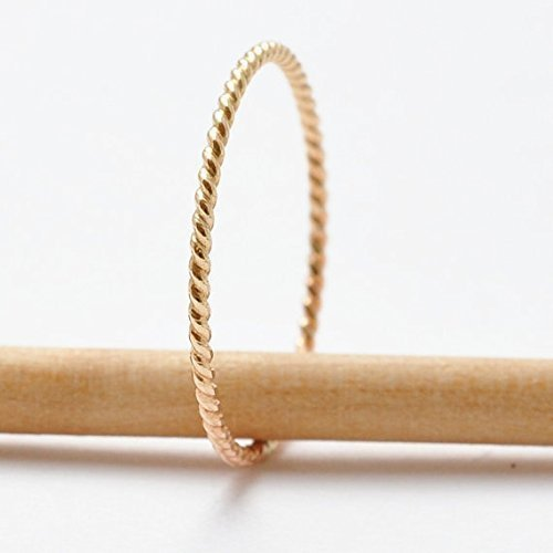 Rope Ring: 14K Yellow Gold Filled Band