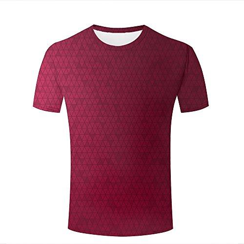 Pete Allan 3D Tshirt Rose Triangle Vector For Men Summer Top S