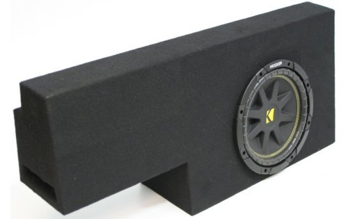 Compatible with Chevy Silverado 01-06 Crew Cab 1500 Truck Single 10″ Kicker C10 Subwoofer Sub Box Enclosure 300 Watts Peak