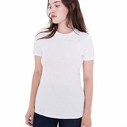 Femme Blanc Fin Jersey Classique shirt De T La 04Yxawn6