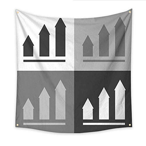 Anniutwo Tapestry Kids Growth Chart Infographic Chart icon Flat Vector Illustration Business Concept Chart Pictogram Vector Set icon on White Gray Black Color Beach Throw Tapestry 32W x 32L Inch