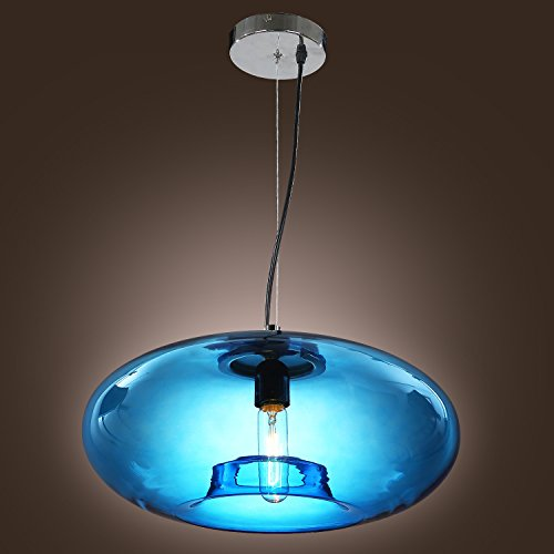 US Stock, Lightinthebox Vintage Glass Pendant Light in Blue Bubble Modern Design, Mini Style Ceiling Light Fixture with Bulb Included, for Dining Room, Bedroom, Living - Tiffany Company Stock And