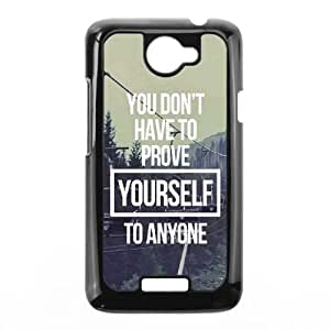 HTC One X Cell Phone Case Black Dont ProveYourself LSO7834517