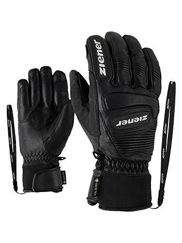Ziener Erwachsene Guard GTX Grip PR Ski-Handschuhe/Wintersport | Wasserdicht, Atmungsaktiv, Gore-tex, Primaloft, Leder, Rennlauf, schwarz (black), 11