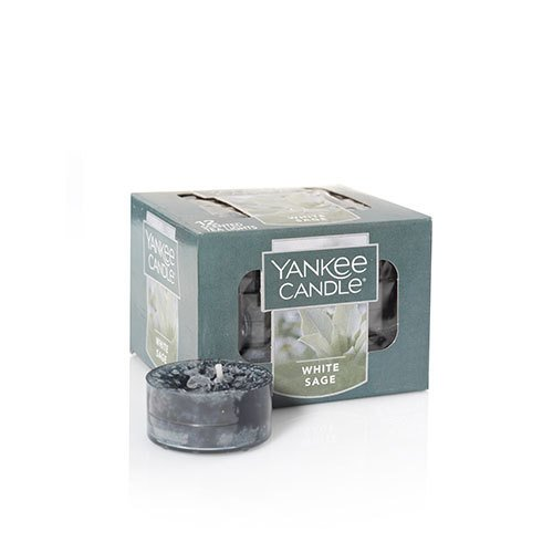 (Yankee Candle White Sage Scented Tea Light Candles Green)