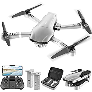 Flashandfocus.com 41tog-PY8bL._SS300_ 4DRC F3 GPS Drone with 4K Camera for Adults, 5GHz FPV Live Video,2 Batteries and Carrying Case,Foldable RC Quadcopter…