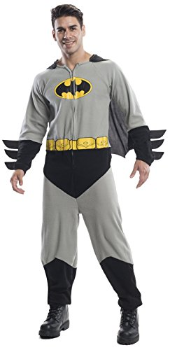 Batman Onesie Costumes For Adults (Rubie's Costume Co Men's Batman One-Piece Costume, Black, Standard)