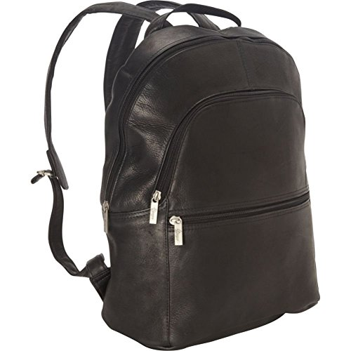 Royce Leather 15 Inch Colombian Leather Laptop Backpack, Black, One Size Royce Leather Leather Computer Case