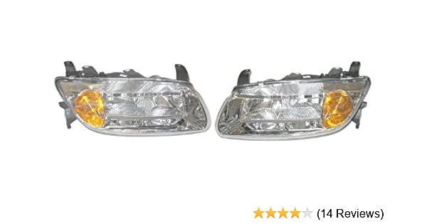 2 OEM NEW Front Bumper Fog Light Cover Right /& Left Set 03-05 LW200 LW300 L300