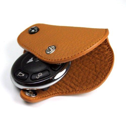 Blackjack GoBadges KC005 Tan Leather Key Fob for Mini Cooper R55,R56,R57,R58,R59,R60,R61